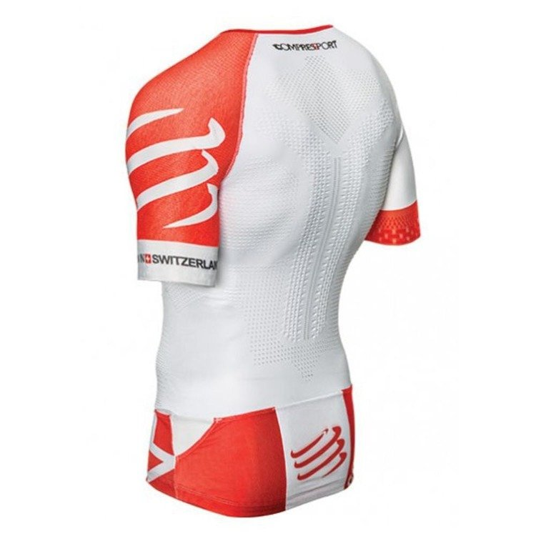 Compressport TR3 Aero Top - men's triathlon (White)