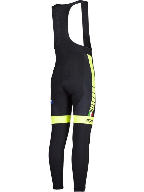 Rogelli Umbria - men's trousers bike insert gel (black and yellow)