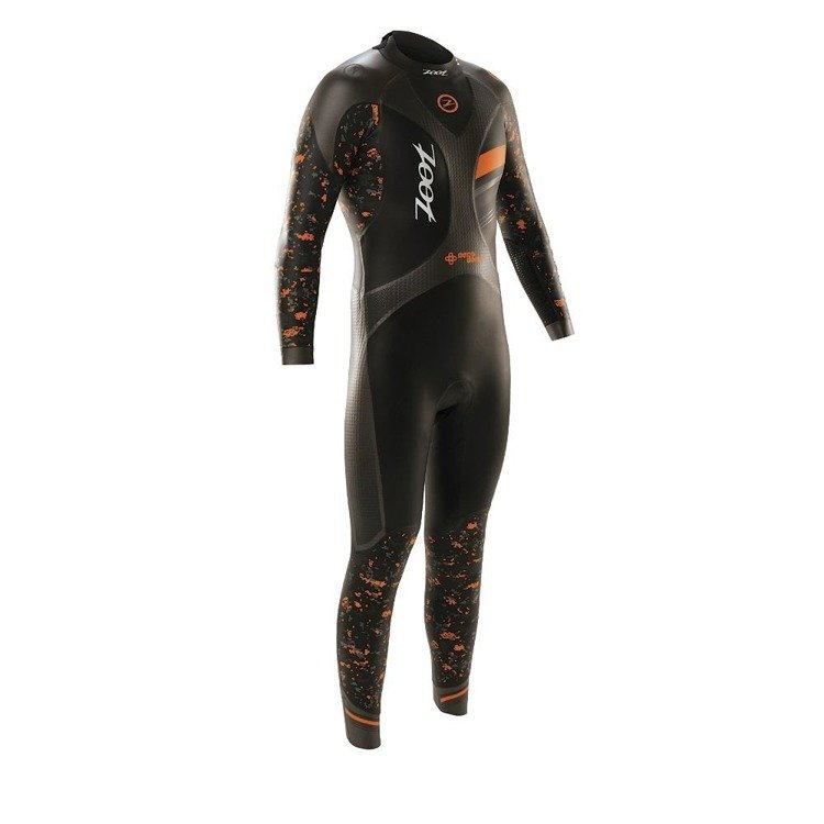 ZOOT Men's WET WAVE 3 - Men's triathlon foam (black and orange)